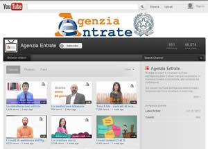 agenzia entrate su youtube