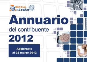 annuario contribuente 2012