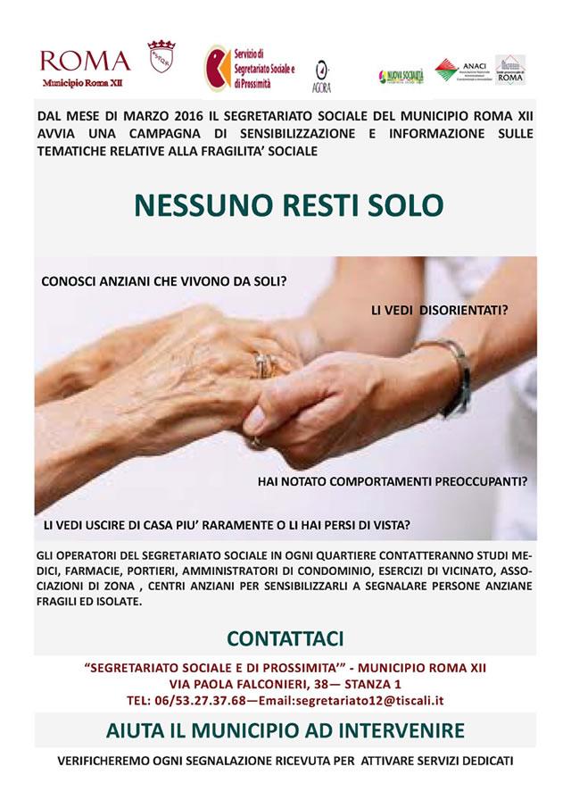 campagna di sensibilizzazione per gli anziani