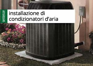 installazione di condizionatori d'aria
