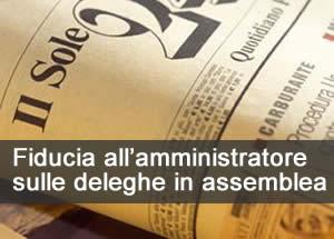 Fiducia all'amministratore sulle deleghe