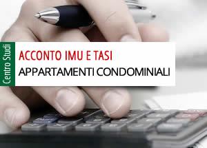 Imu Tasi appartamenti condominiali