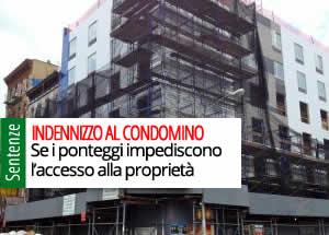 Tribunale di Roma, 16 noIndennizzo condòmino accesso bloccatovembre 2018 n. 22024