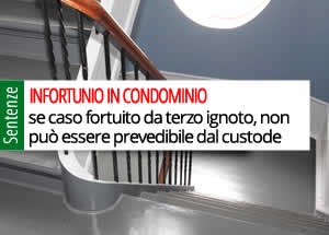 infortunio in condominio