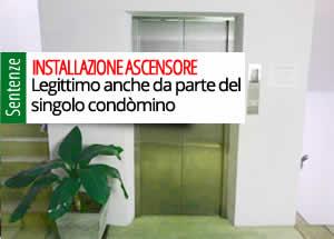 Installazione ascensore singolo condòmino