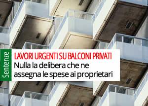 Lavori urgenti balconi privati
