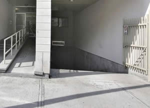 sbarra metallica ingresso rampa condominale