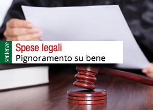 pignoramento per spese legali