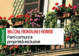 balconi, frontalini e fioriere
